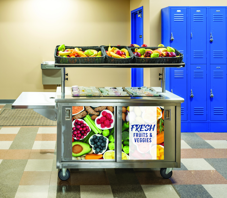 Fresh Fruit and Veggie Cart