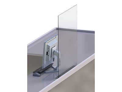 HUBERT Clear Acrylic Counter Safety Shield