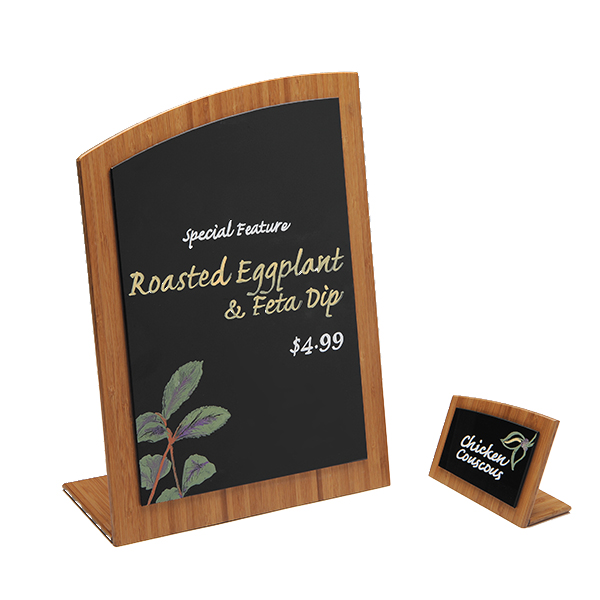 Bamboo Wave Top Chalkboard Sign