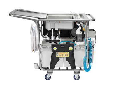 Mobile Cleaning And Sanitizing System Cart