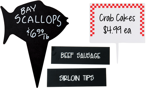 Meat and Seafood Signage and Labels