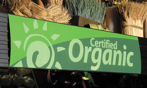 Produce Organic Category Header Sign