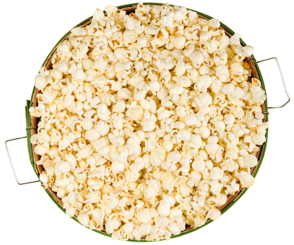 popcorn in bushel basket