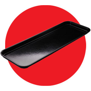 Cambro Black Fiberglass Market Display Tray