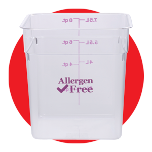 Cambro 8 qt Clear Plastic Allergen Safe Food Storage Box