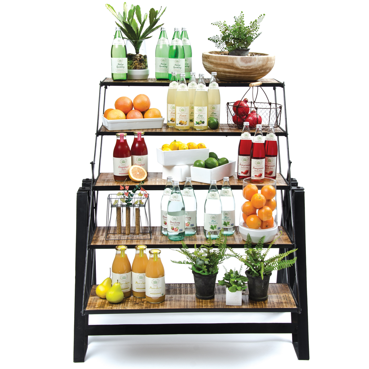 Expressly Hubert 3-In-1 Five Shelf Industrial Display Fixture