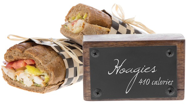 Hoagies with calorie labeling