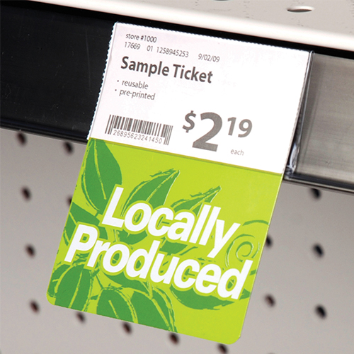 Green Plastic Shelf Talker Locally Produced