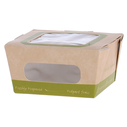 Kaiser Roll/Small Salad Green Paper Food Containers