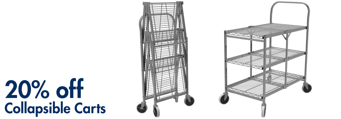 20% off Collapsible Carts