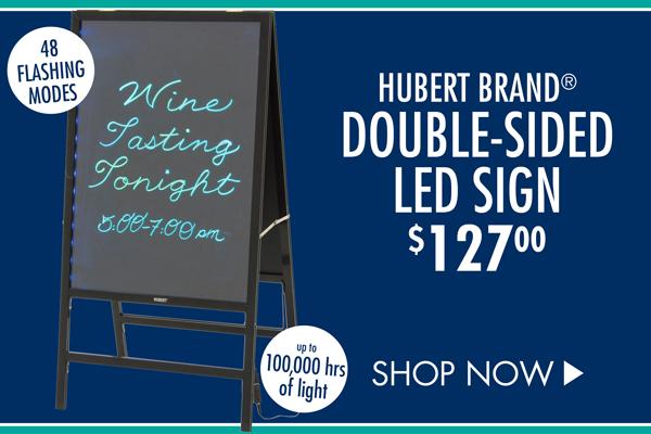 HUBERT Brand�???????�??????�?????�????�???�??�?�® Double-Sided LED Sign