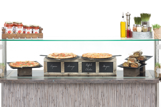 Slices on Slate Pizza Station
