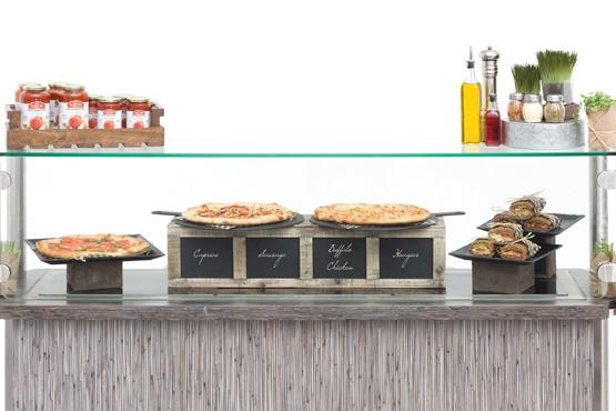 Slices on Slate Pizza Station