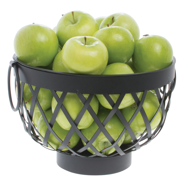 Expressly Hubert Round Black Metal Basket