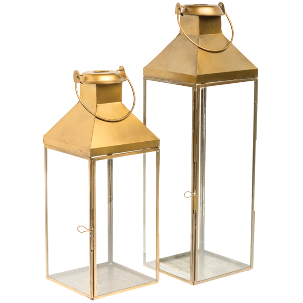 Gold Metal Lanterns