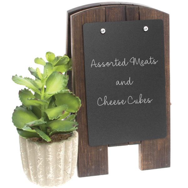 Risch Wood Counter Easel With Removable Chalk Panel