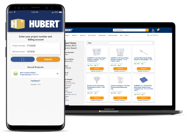 Hubert projects app available on mobile and desktop
