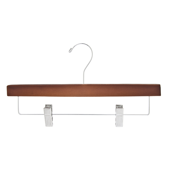 Rubberized Pant Hanger, Walnut