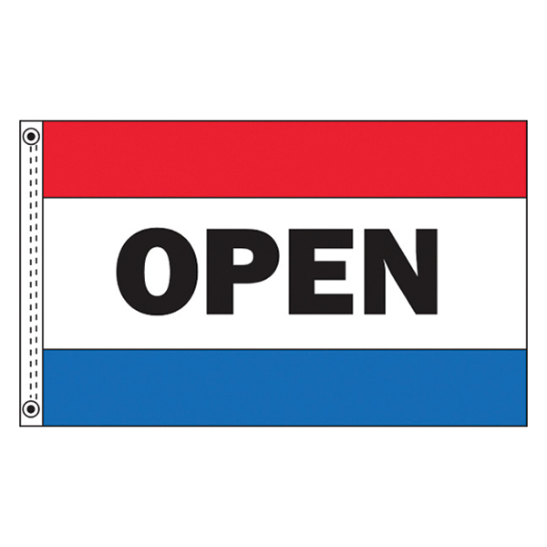 5 x 3 (L x H) Open Flag