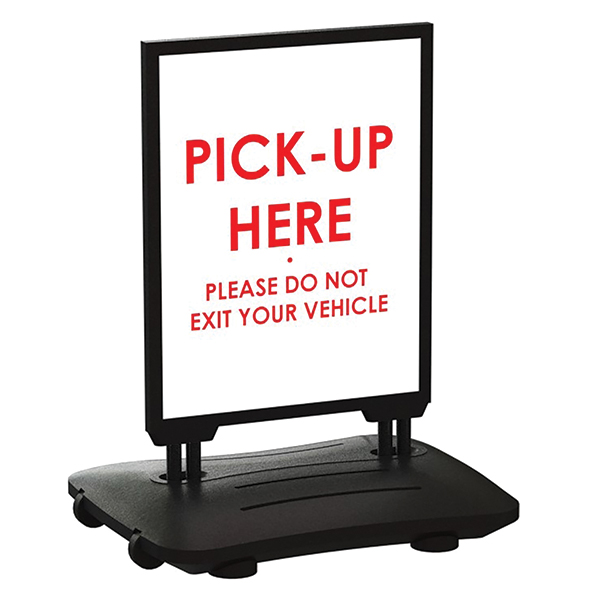 "22""W x 28""H Pick Up Here Sign"