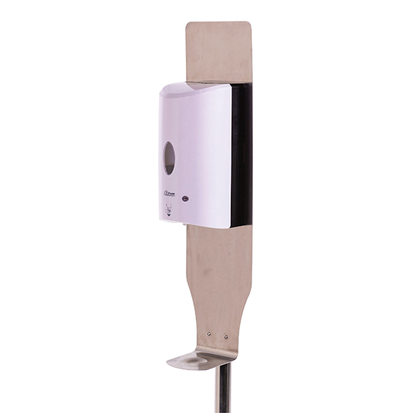 Set of 2 Floor Stands with Touchless Foam Hand Sanitizer Dispensers