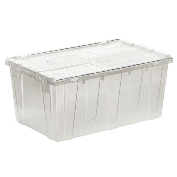 Orbis Clear Plastic FliPak Stack-N-Nest Storage Tote With Lid