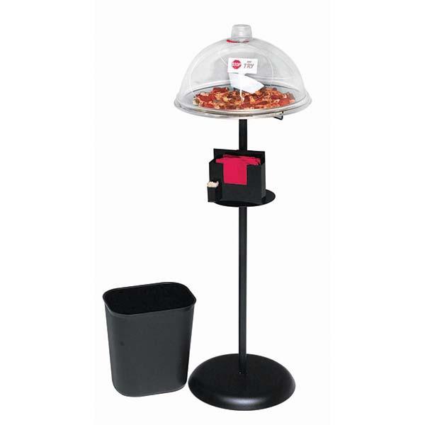 Expressly HUBERT Black Powder-Coated Metal Dry Sampling Food Display