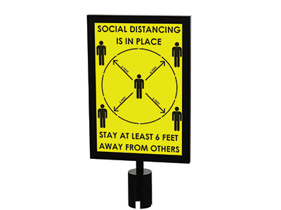 Social Distancing Sign For Crowd Control