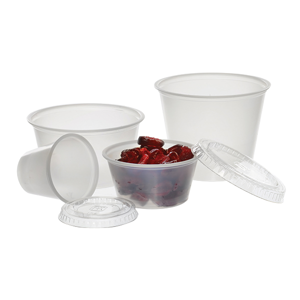 4 oz Clear Polystyrene Plastic Portion Cup