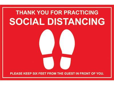 Social Distancing Floor Graphic Marker
