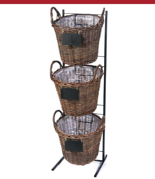 Triple Basket Display