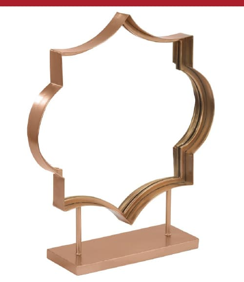 Rose Gold Counter Mirror
