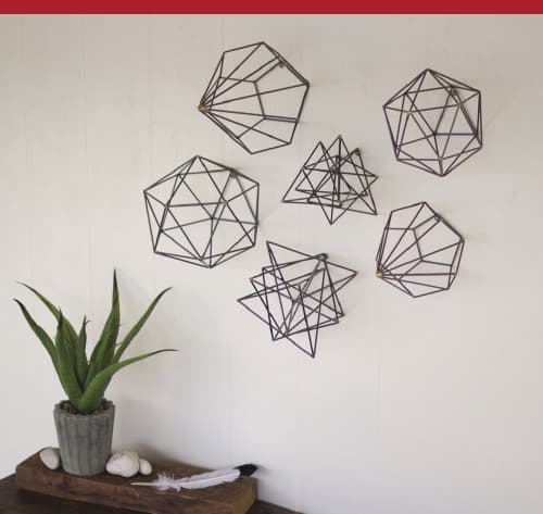 Grey Metal Geometric Orbs