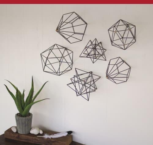 Grey Metal Geometric Orbs