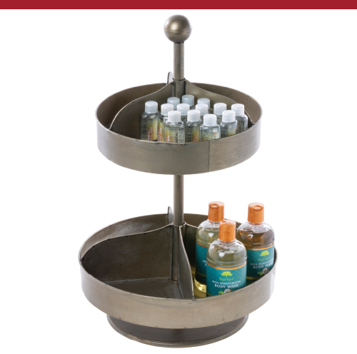 2-Tier Countertop Rotating Hardware Bin