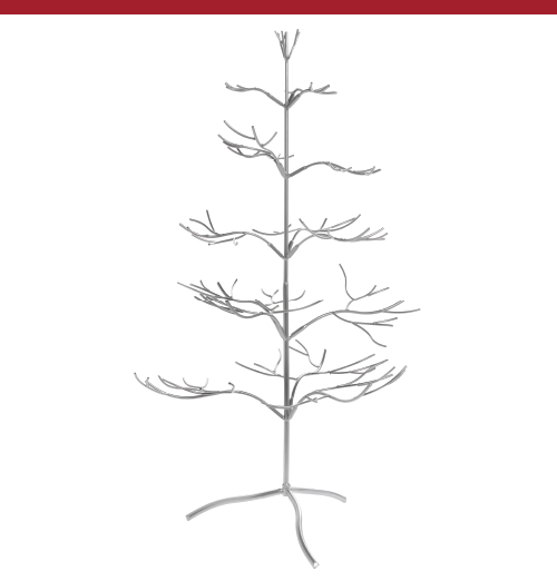 Silver Jewelry Display Tree