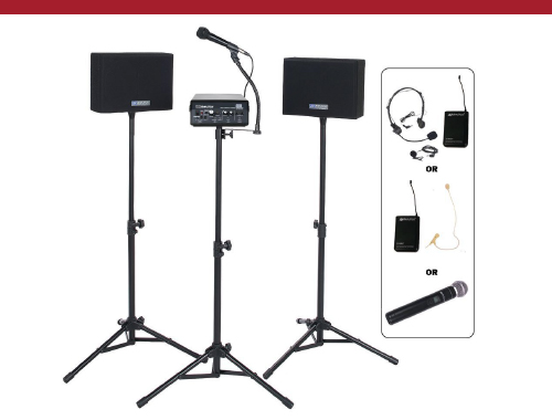 SW232 Wireless Powered Speaker Voice Carrier Kit