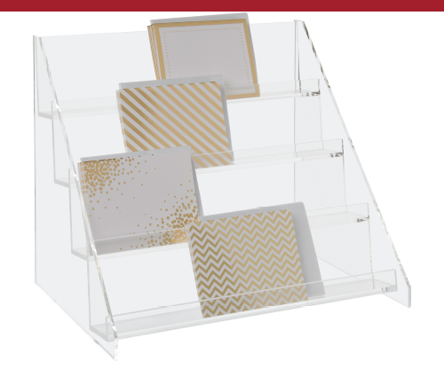 4-Tier Acrylic Step Display