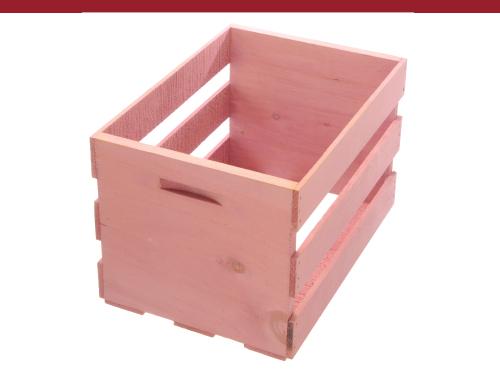 Raspberry Pink Wood Crate Box