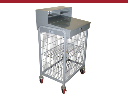 Mobile Receiving Desk with Security Cage