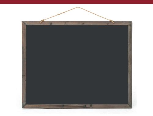 Large Frame Double-Sided Chalkboard