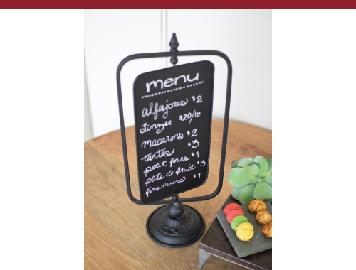 Swivel Vintage Menu Board