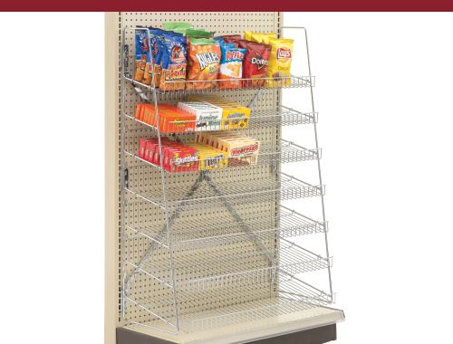 Wire Candy Snack Rack, 7-Tier Chrome