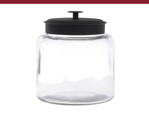 Anchor Hocking Montana Jar w Black Lid