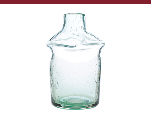 Antique Glass Vase Aqua