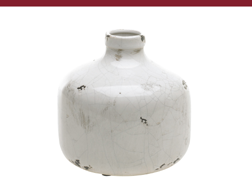 White Crackle Ceramic Jug