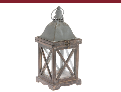 Wooden Antique Stable Lantern