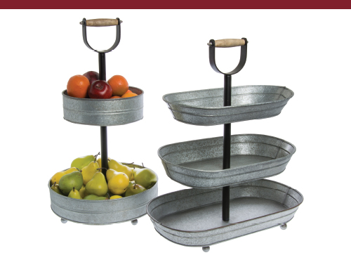 2-Tier Galvanized Stand