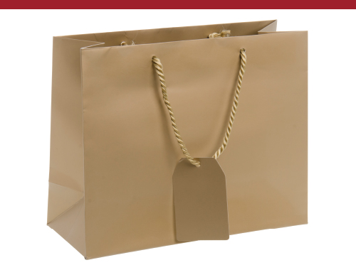 Large Shopping Bag, Gold