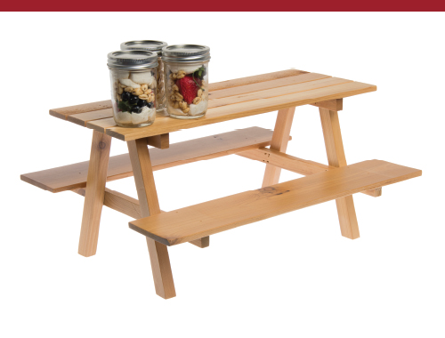 Mini Picnic Table Wood
